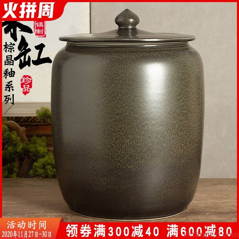 Jingdezhen ceramic barrel loading thickening ricer box archaize home 20 jins 30 jins insect - resistant tide grains, sealed storage tank