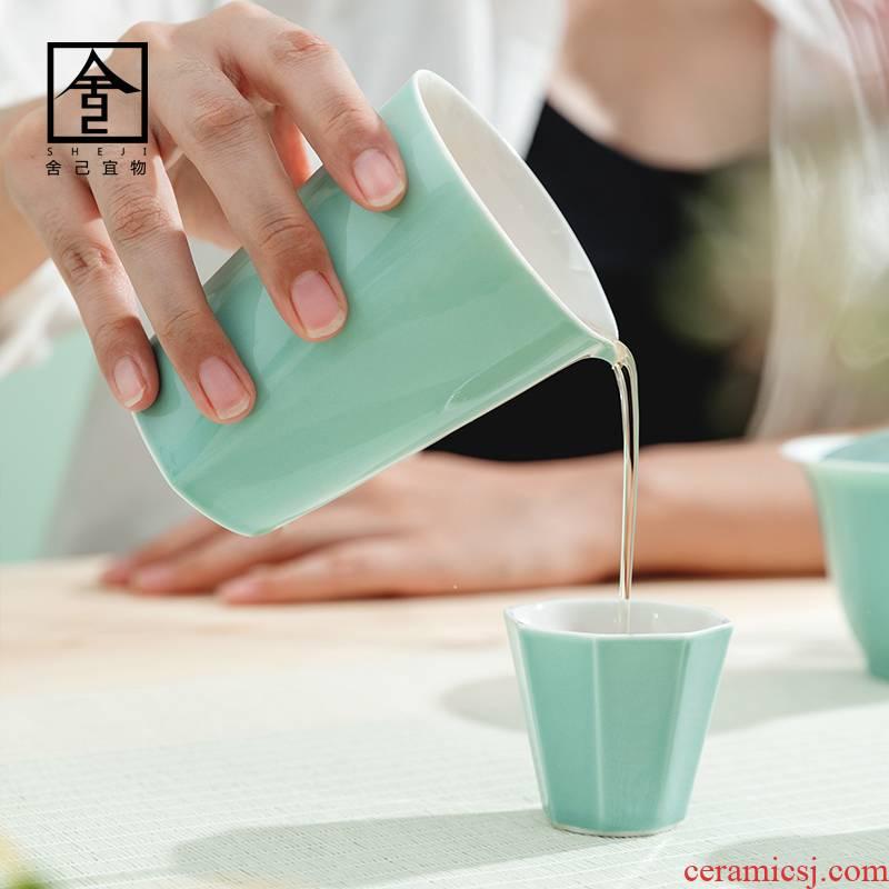 "The Self - ""appropriate content manually cyan fair keller cup retro points tea kung fu tea set jingdezhen household"