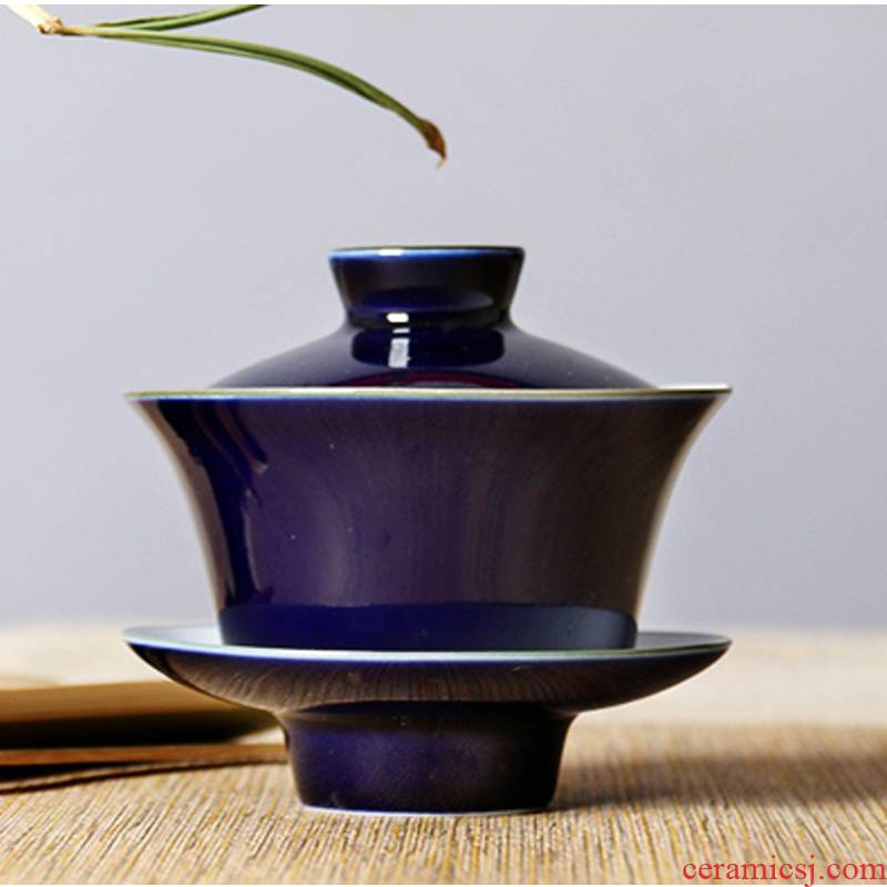 One thousand fire three tureen large sets of jingdezhen ceramic household manual the orchid with kung fu tea tea bowl