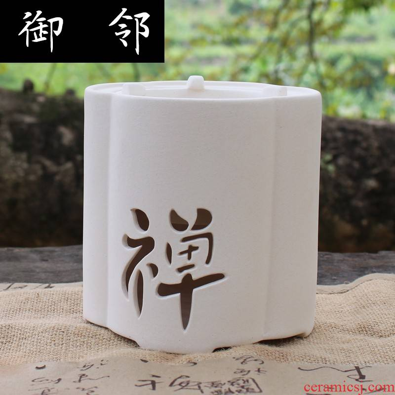 Xy white clay tea stove charcoal stove household hibachis carbon'm burning charcoal stove furnace boiling tea stove hibachis wind furnace TaoLu tide