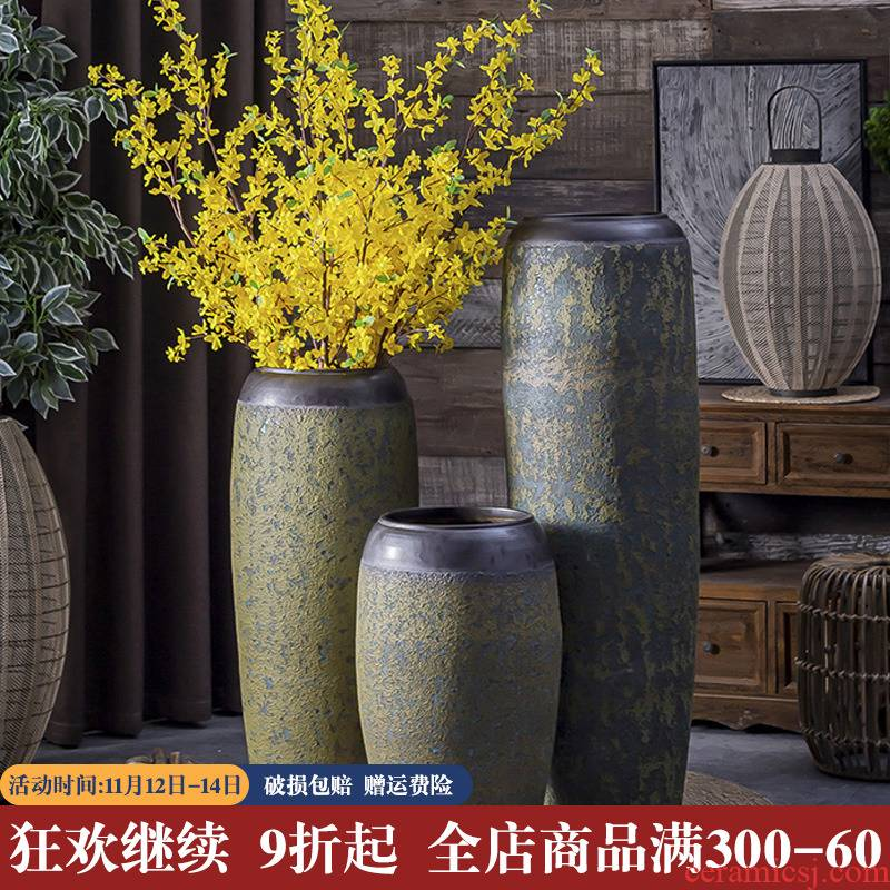 Restore ancient ways the coarse pottery vases, flower POTS to the sitting room the Mediterranean furnishing articles large hotel flowers, flower POTS decoration