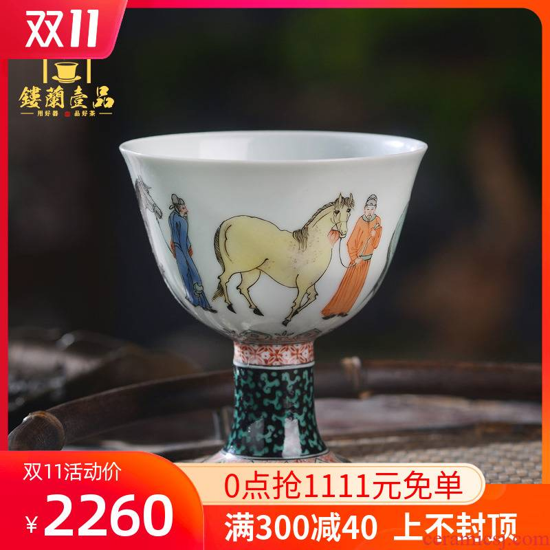 Jingdezhen ceramic kung fu tea ware hand - made all misty ancient color best cup personal master cup tea cup, cup