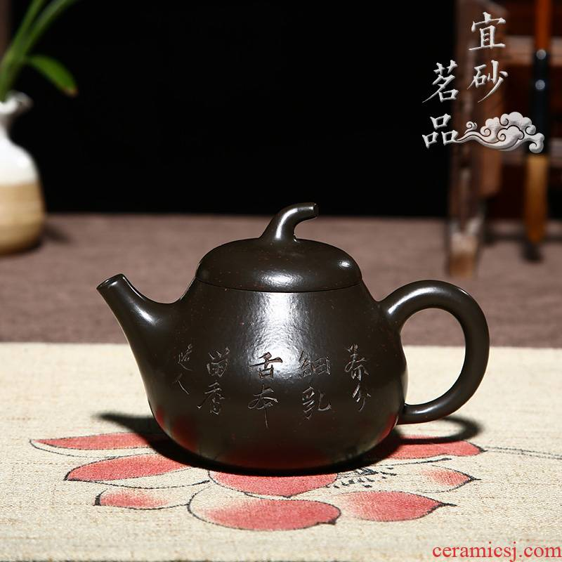 Shadow at yixing it all pure hand teapot kung fu tea sets teapot famous king YSMP town