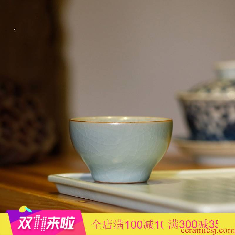 The Poly real boutique cup scene piece of jingdezhen ceramic sample tea cup your up to leave but a kung fu tea cup small round drum