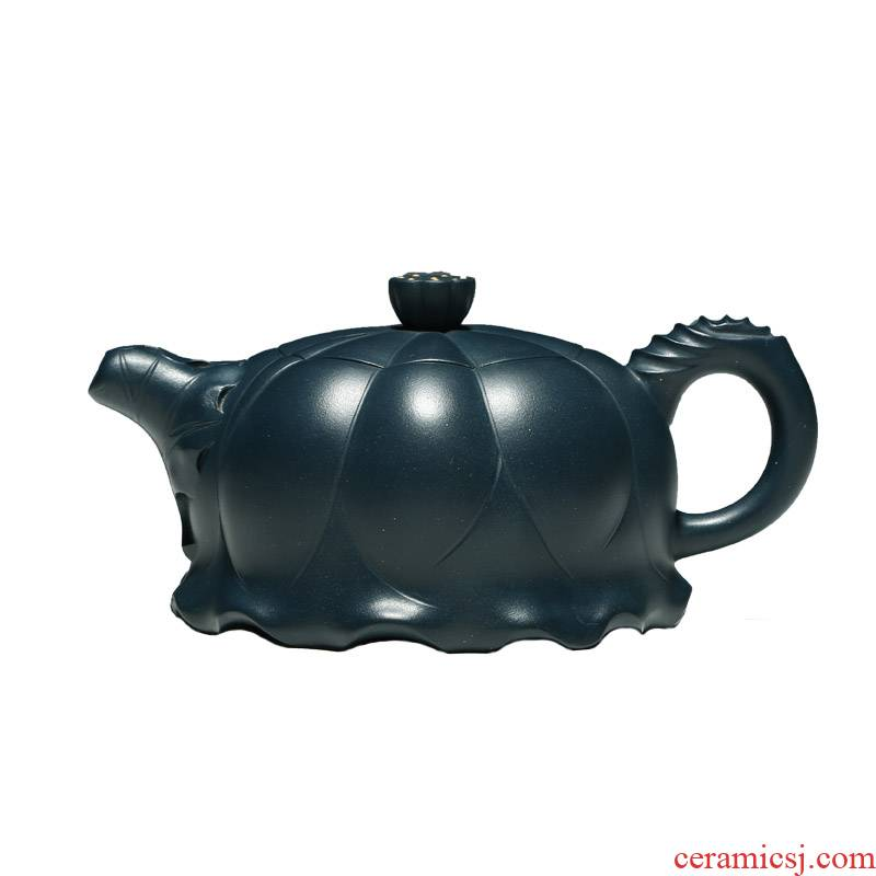 Shadow at it pure manual chlorite teapot household kung fu teapot yixing ink lotus pot collection YSMP