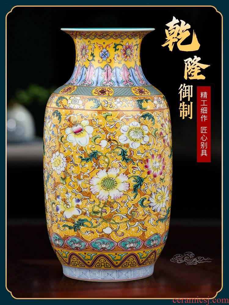 Jingdezhen ceramic vases, flower arrangement of Chinese style restoring ancient ways the desktop furnishing articles office sitting room adornment bedroom TV ark
