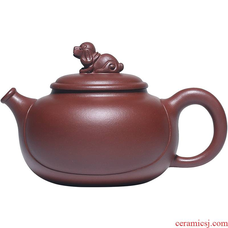 Shadow at present yixing it undressed ore famous purple clay teapot suit pure manual zodiac kung fu