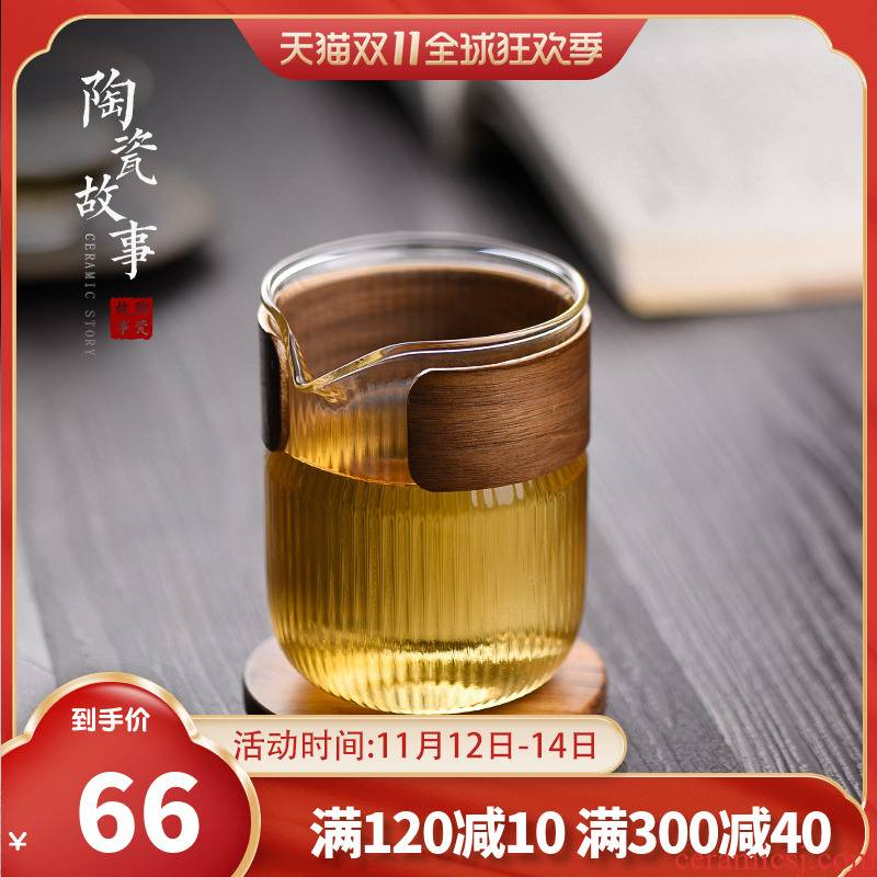 Ceramic fair story cup glass) suit thickening heat resisting Japanese points of tea, tea sea hammer and a cup of tea