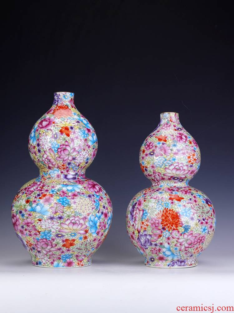 New Chinese style porch gourd furnishing articles large jingdezhen porcelain town curtilage ceramics handicraft home sitting room adornment
