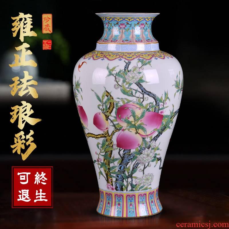 Jingdezhen archaize enamel pottery and porcelain vases, flower arrangement of Chinese style living room porch desktop furnishing articles TV ark, adornment