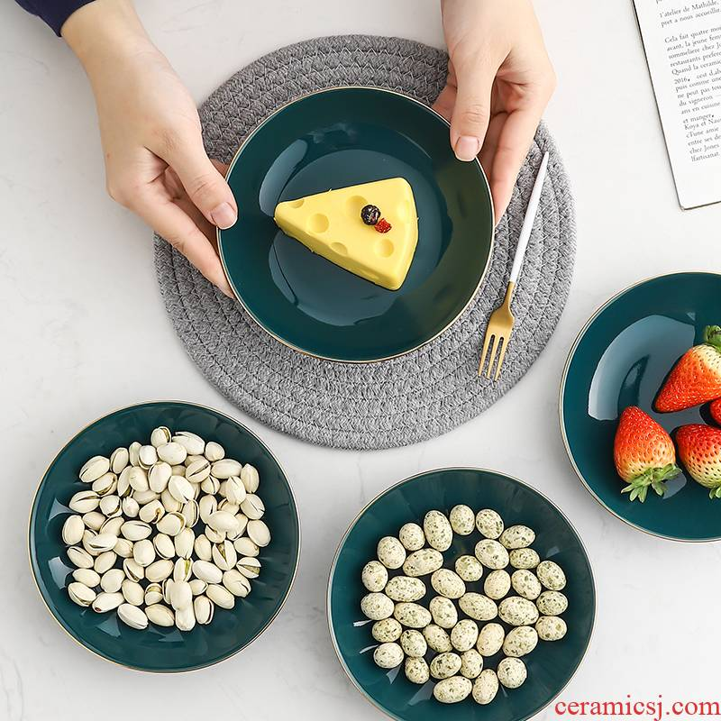 Scene for the Nordic 6 inches of dried fruit fruit bowl home sweet cake dish creative ceramic snack plate hot pot dab