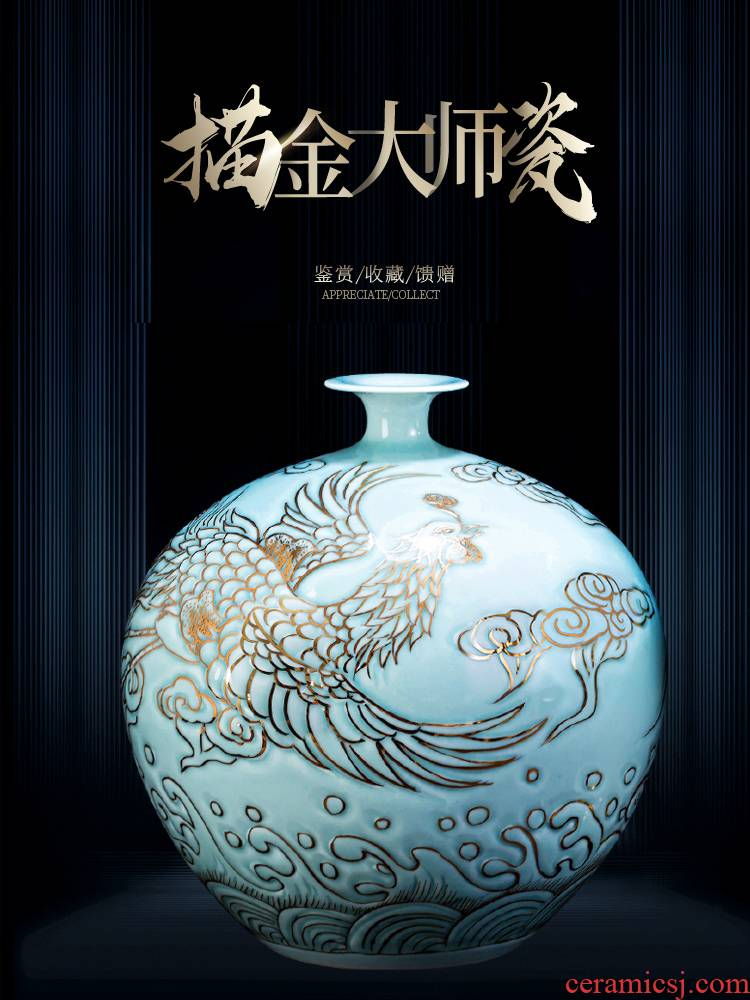 Jingdezhen ceramic vase furnishing articles of Chinese style restoring ancient ways light key-2 luxury home sitting room tea table rich ancient frame masters hand paint