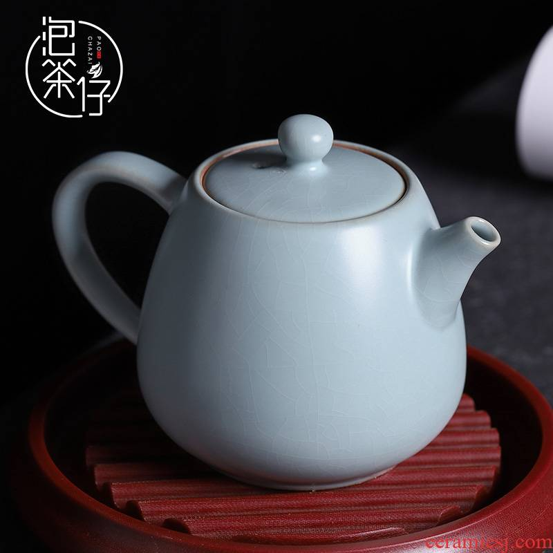 Your up teapot single pot can keep open piece of ice to crack glaze tea one little teapot with ceramic Chinese trumpet kunfu tea