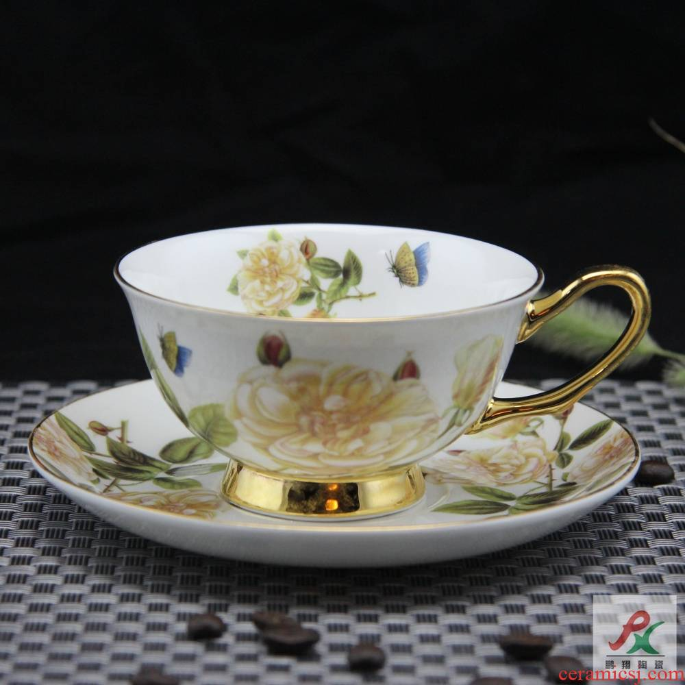 Qiao mu tangshan ipads China continental red cup coffee cups and saucers suit English afternoon tea cup up phnom penh box of England
