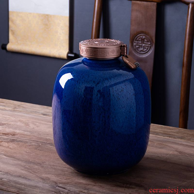 Ceramic bottle 1 catty 5 jins of 10 jins to empty bottles of liquor pot seal creative furnishing articles custom lettering