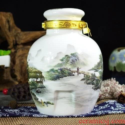 10 jins 20 jins 30 jins of jingdezhen ceramic jar it bottle seal places to lock wine fermentation