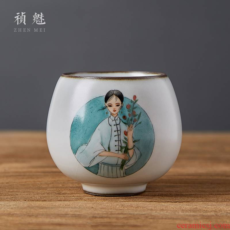 Shot incarnate the hand - made your up with jingdezhen ceramic cups kung fu tea set personal sample tea cup masters cup single CPU