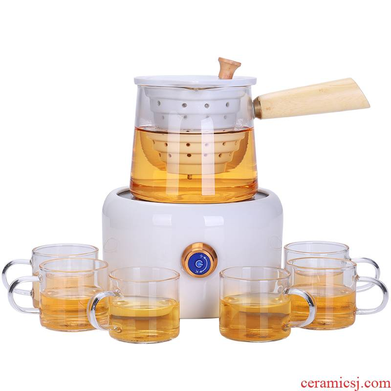 Shadow enjoy electricity TaoLu household boiling tea ware suit side the glass teapot round electric TaoLu glass cup TF