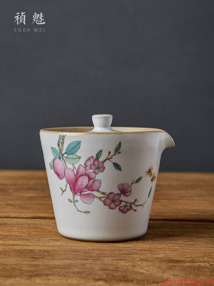 Shot incarnate the hand yulan hand grasp pot of jingdezhen ceramic your up kung fu tea set household crack make tea tureen