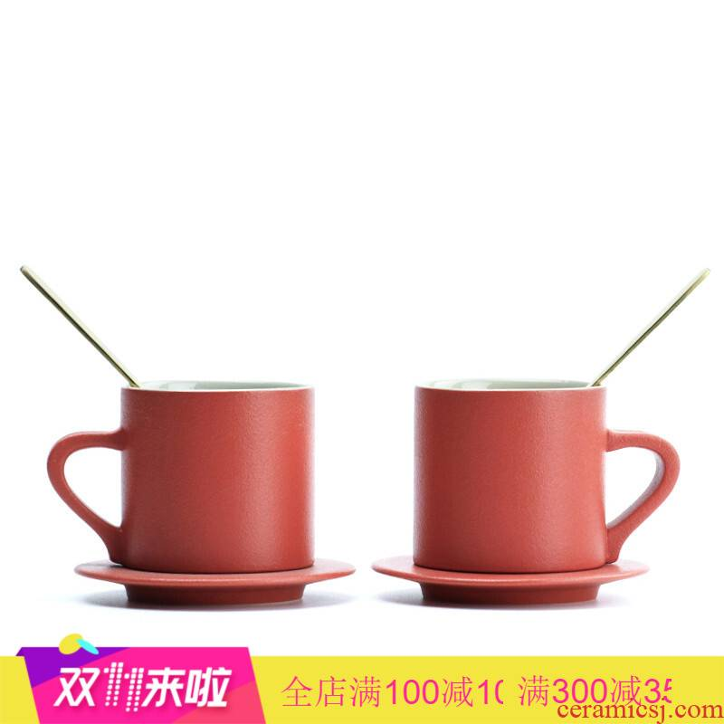 Get marriage cup home outfit new wedding scene boxed ceramic keller cup one question with his hand