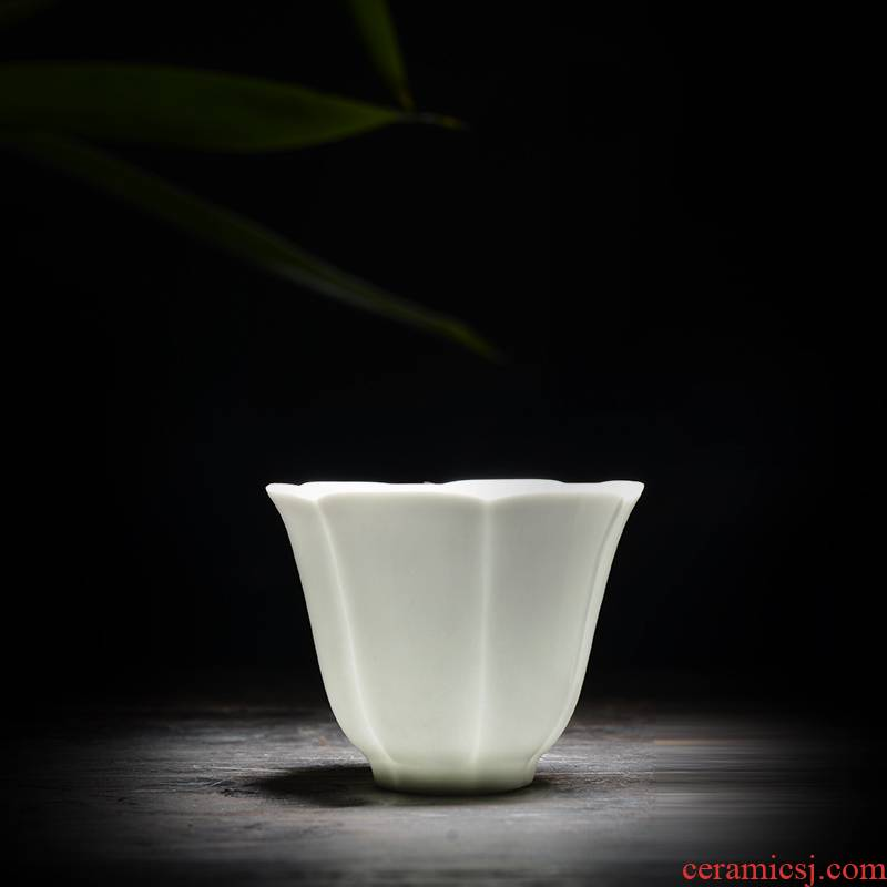 The Fire of jingdezhen in thousand Chinese style simple fashion irregular geometrical office tea white porcelain cup master