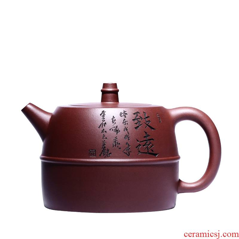 Shadow at yixing priests are it by pure manual undressed ore carved painting han pot teapot tea HSMP