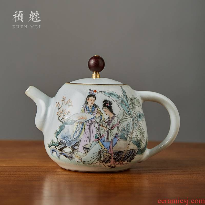 Shot incarnate your up hand - made of red chamber of jingdezhen ceramic teapot kung fu tea set household slicing can be a single pot teapot