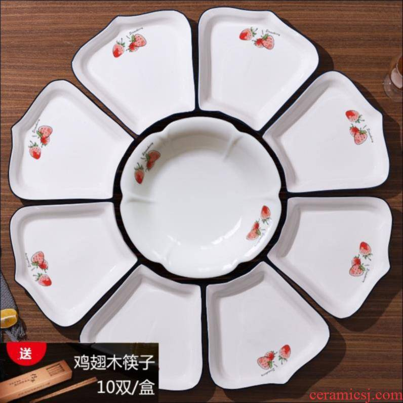 Brine food dish of domestic ceramic platter combination porcelain home plate creative web celebrity nice hotel cool plate.