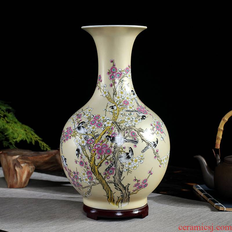 Pastel jingdezhen ceramics, vases, flower arranging dried flowers hotel office furnishing articles, the sitting room porch decoration