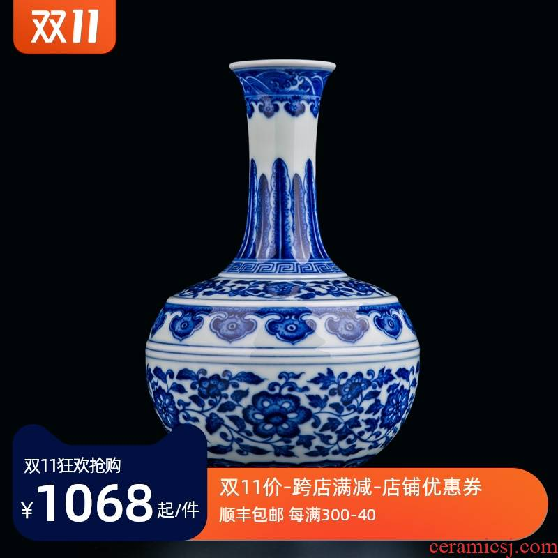 Jingdezhen ceramics new Chinese antique hand - made firewood vase household place, a large sitting room porch TV ark