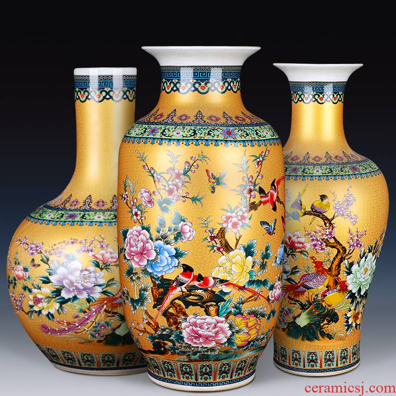 Jingdezhen ceramics Jane European - style large vases, flower arranging the modern Chinese style living room decorations TV ark, furnishing articles