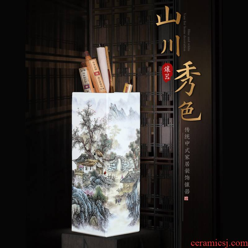 Jingdezhen ceramics powder enamel originality of large vases, large Chinese style porch sitting room home furnishing articles