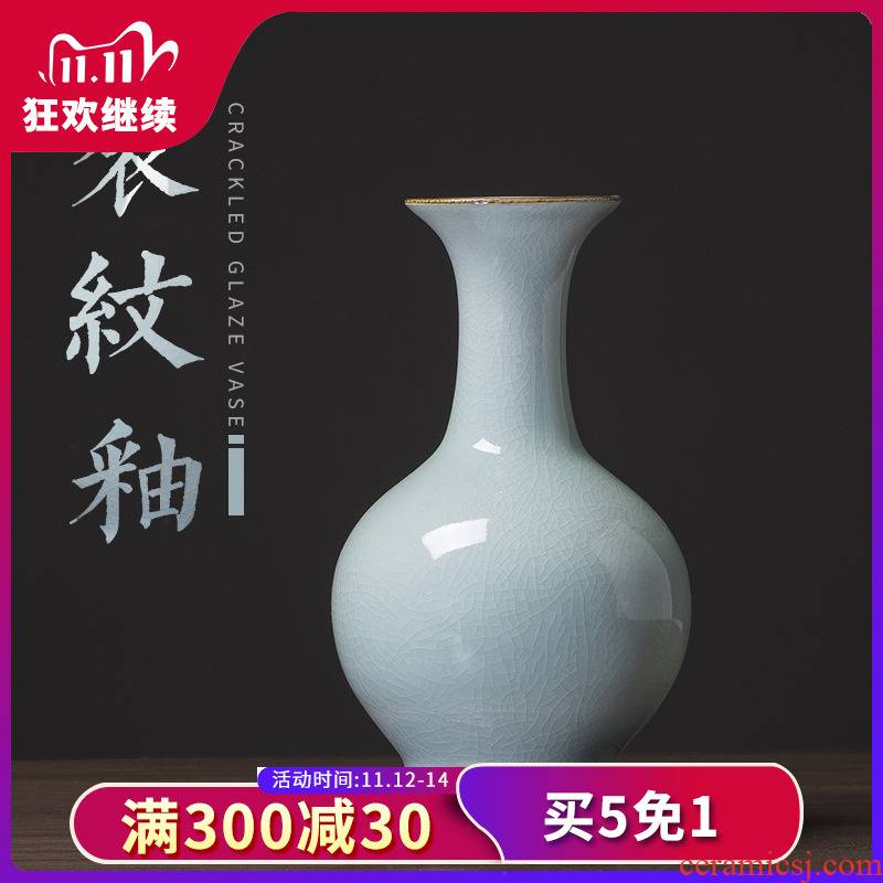 435 white crack of jingdezhen ceramics glaze antique up vase furnishing articles sitting room flower arranging household act the role ofing is tasted
