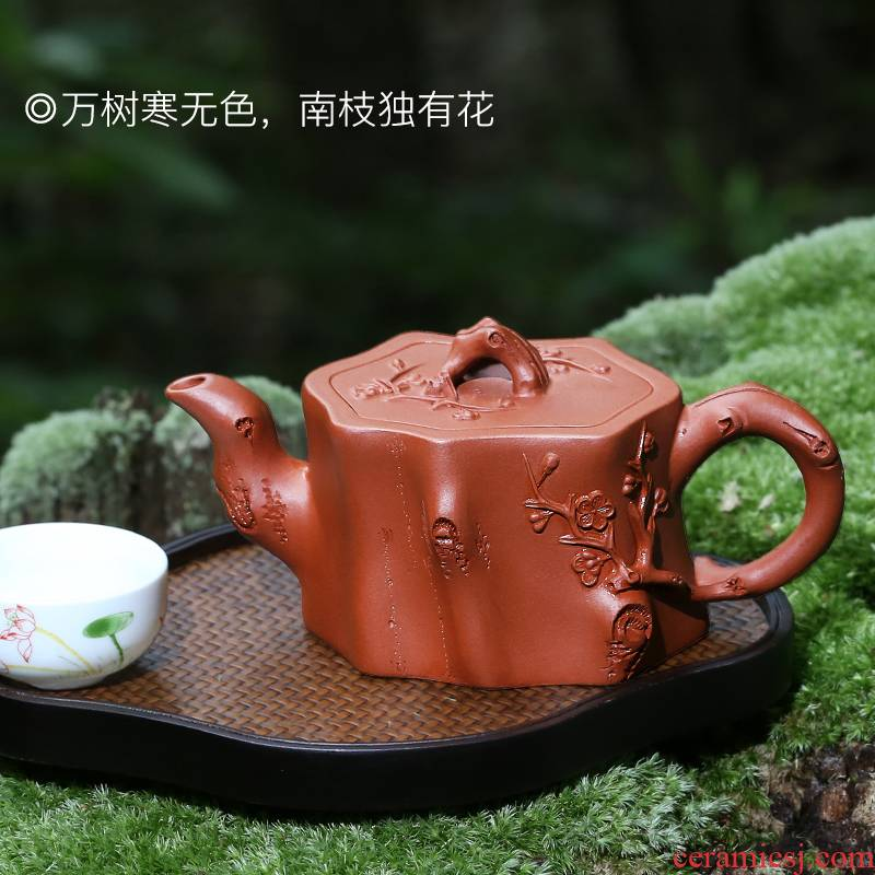 """""""Shadow enjoy"""" yixing it pure checking works of mei the qing cement from running teapot tea pot of kung fu tea set"""
