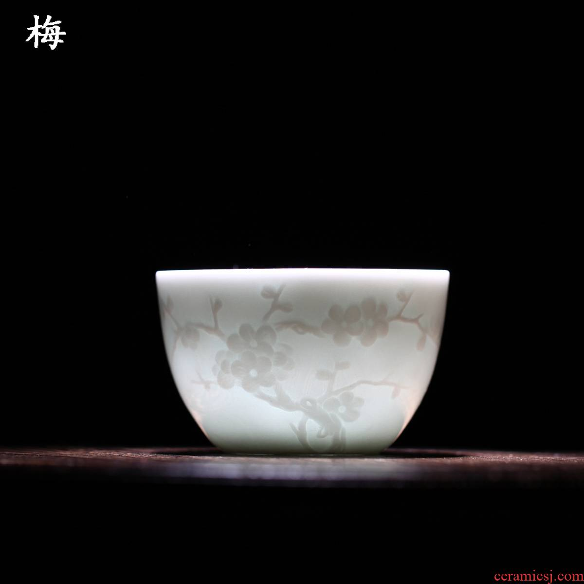 One thousand fire sample tea cup by patterns single cup suit household jingdezhen porcelain carving master kung fu tea cup