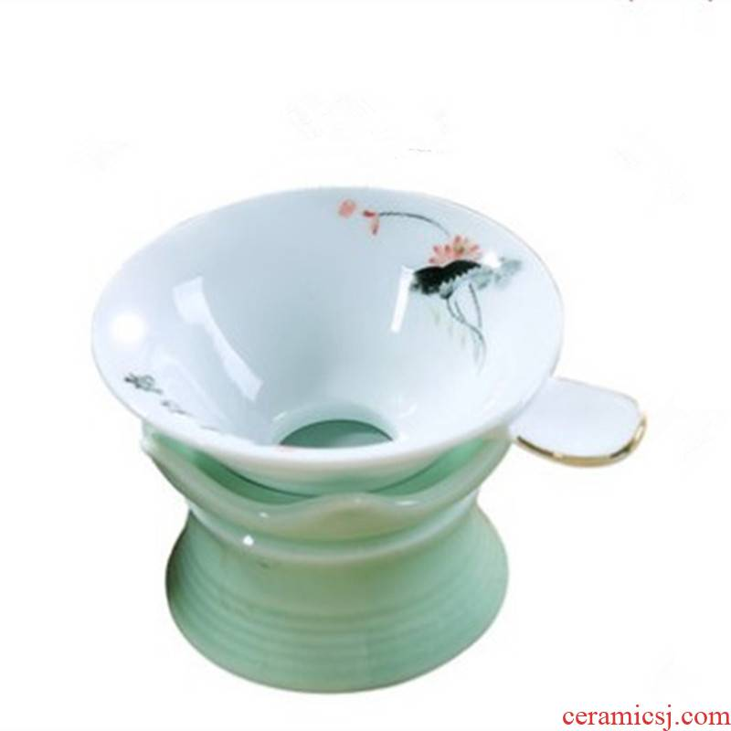 Catch tea strainer tea every ceramic tea set tea accessories make tea tea filters, creative teacups