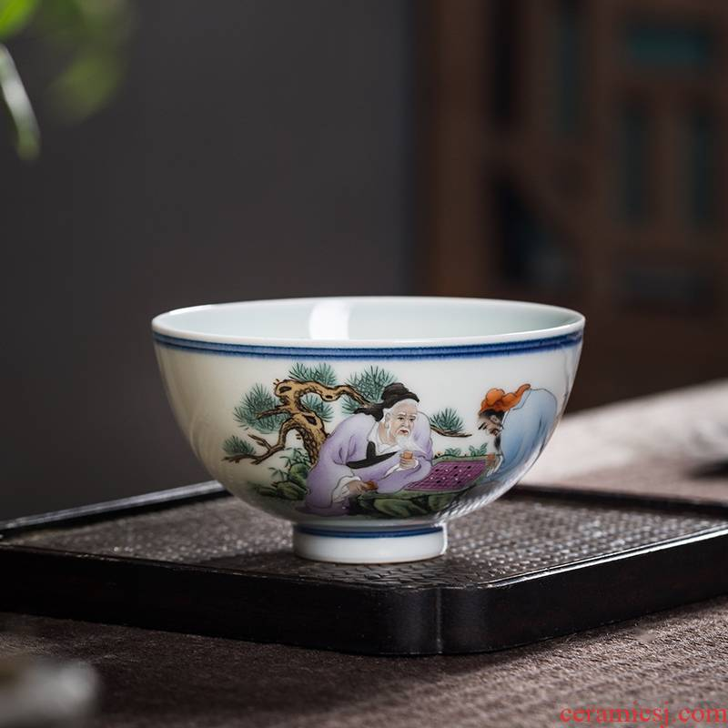 The Owl up jingdezhen famous works collection tea sample tea cup single cup calligraphy masters cup kung fu tea cups characters