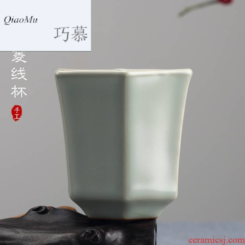 Qiao mu measured your up master cup of jingdezhen ceramic cups sample tea cup single CPU individuals dedicated to open