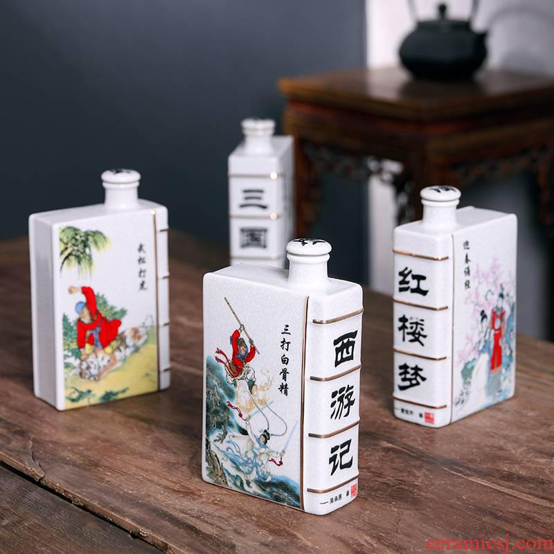 Jingdezhen ceramic bottle a kilo is installed with Chinese creative decorative gift box hip household sealed empty bottles of liquor bottles