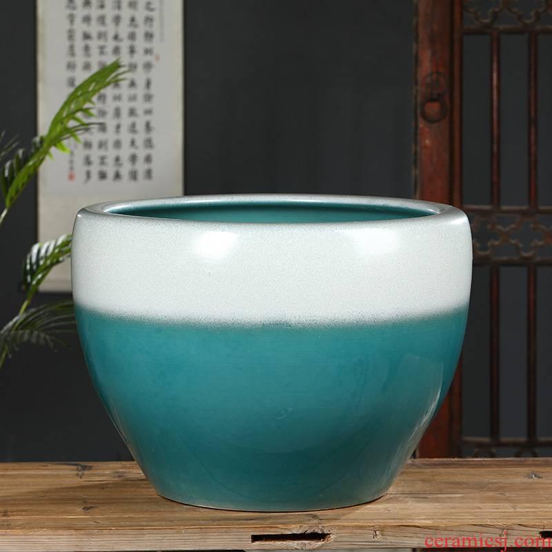 Jingdezhen ceramic goldfish turtle brocade carp basin lotus lotus pond lily large - sized tank yard sitting room