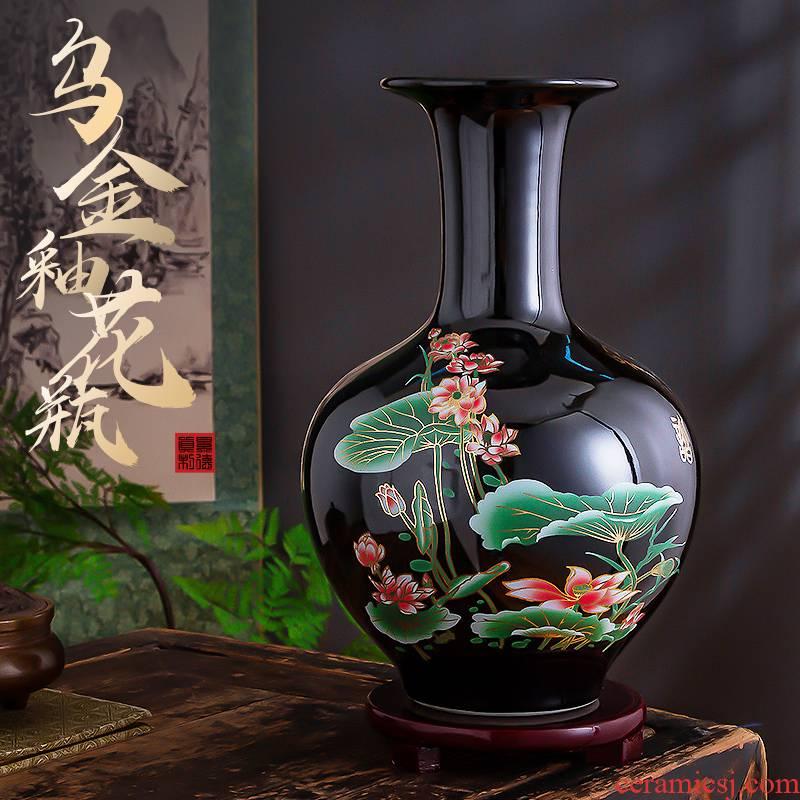 Sharply jingdezhen ceramics glaze floret bottle furnishing articles dried flower arranging flowers sitting room of Chinese style household adornment TV ark