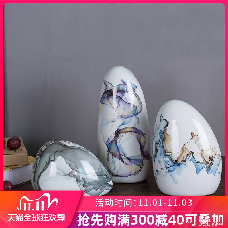 The New Chinese vase light key-2 luxury furnishing articles of modern ceramic creative example room living room home soft decoration ink vase