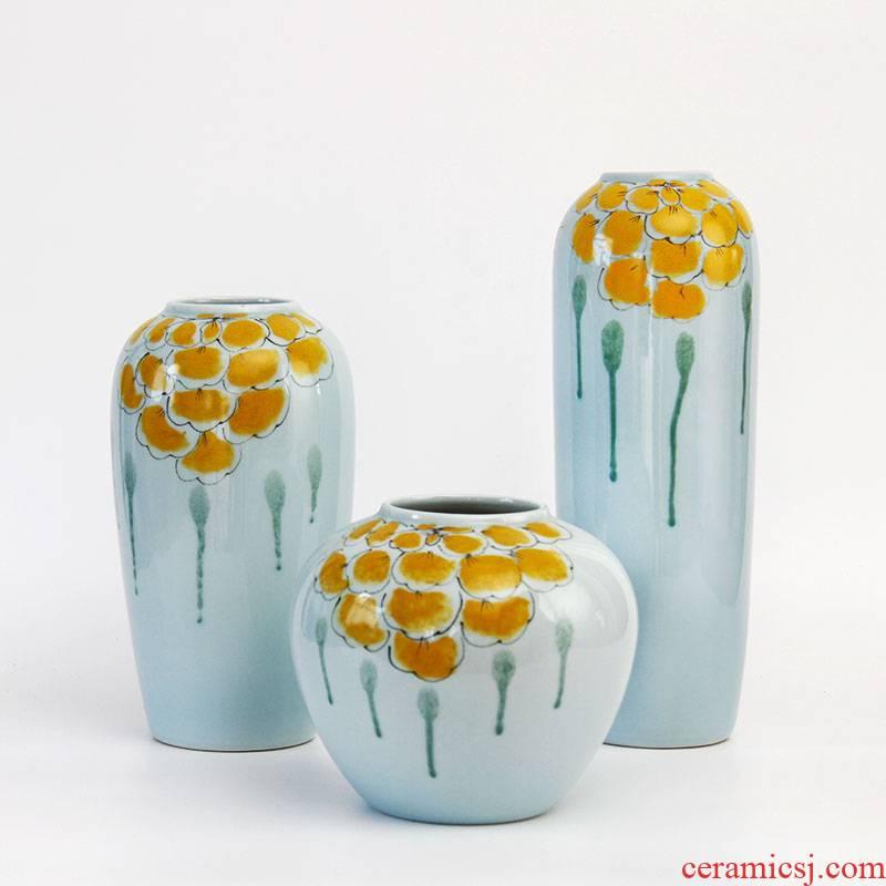 Ceramic vases, flower arranging flowers water raise Ceramic vase creative living room fashion vase furnishing articles flower arrangement