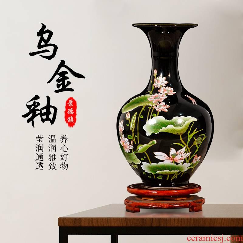 Jingdezhen ceramic vases, flower arrangement sitting room home wine study TV ark, furnishing articles sharply glaze lotus arts and crafts