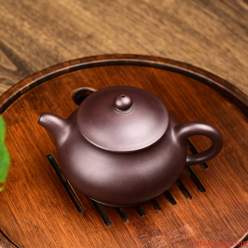 Shadow at yixing it checking kung fu tea set undressed ore purple clay pot pan household 275 ccyst teapot