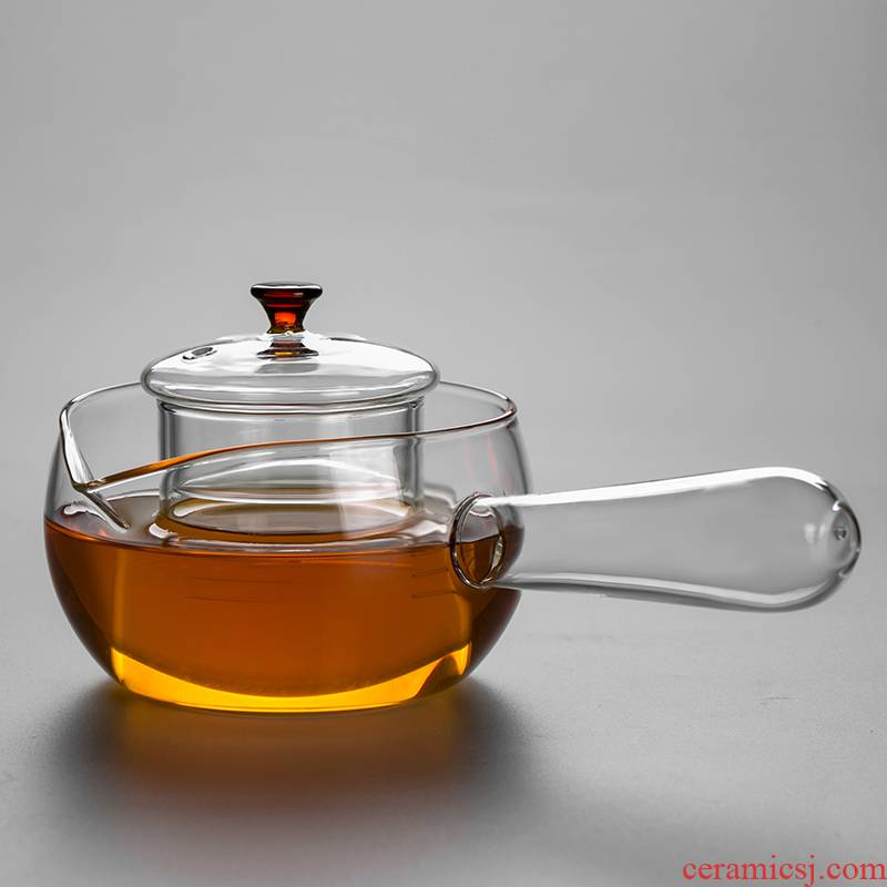 High temperature resistant filter glass teapot curing pot side take the teapot tea set the teapot boiled tea, the electric TaoLu dedicated