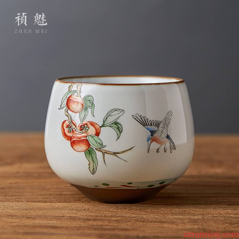 Shot incarnate all hand up of jingdezhen ceramic cups kung fu tea set hand - made the master sample tea cup cup personal single CPU