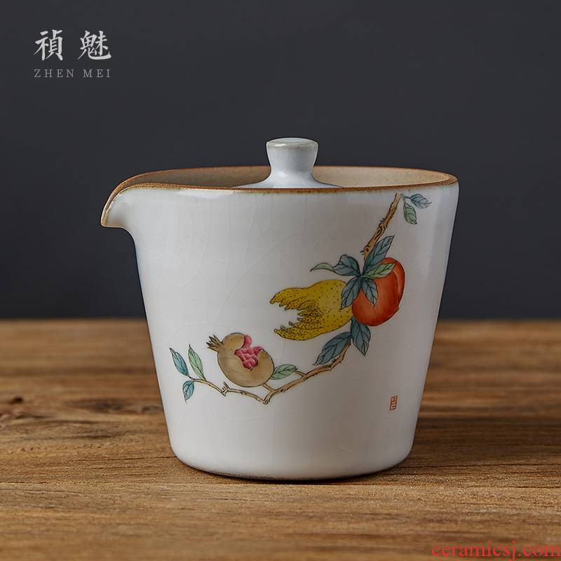 Shot charm your up on the hand - made hand grasp the kung fu tea tea pot of jingdezhen ceramics filter tureen crack cup