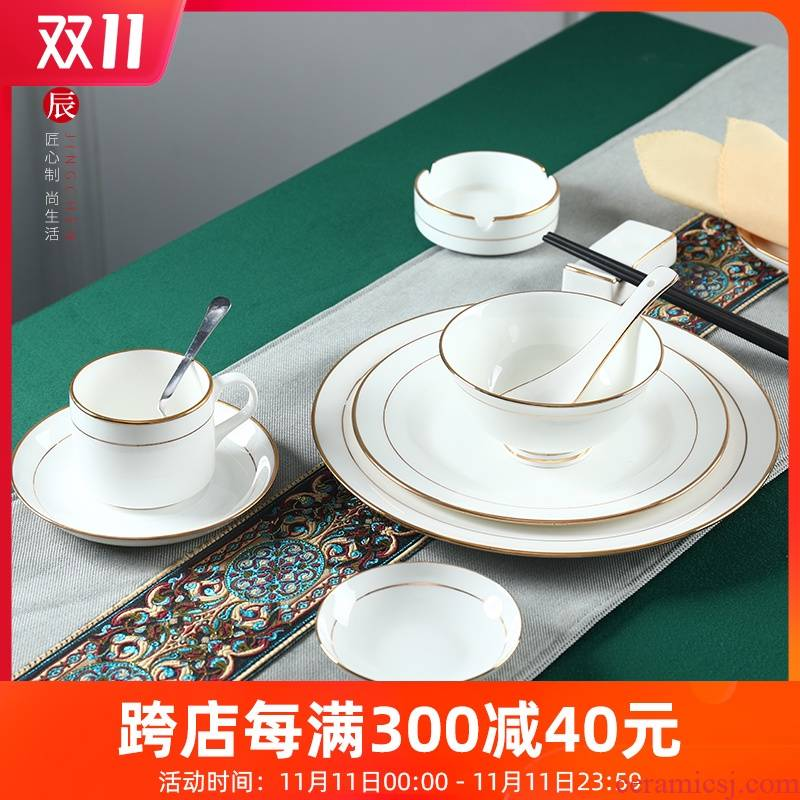 Hotel round table utensils company unit box ipads porcelain tableware dishes suit see colour dishes pure customization