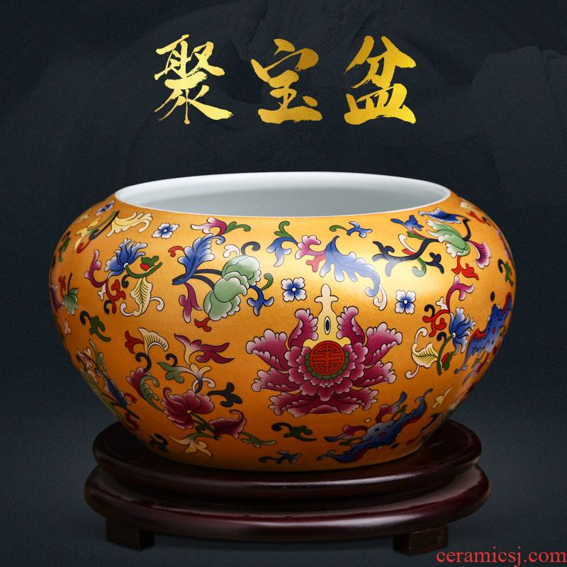 Jingdezhen ceramics cornucopia furnishing articles of TV ark, rich ancient frame of Chinese style household, office decoration